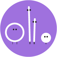 "Dark purple circle with white Music Together ""friends"""
